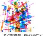 abstract modern blue wall of... | Shutterstock . vector #1019926942