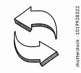 hand drawn arrow vector... | Shutterstock .eps vector #1019928322