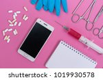 on a pink background is the... | Shutterstock . vector #1019930578
