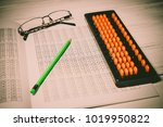 mental arithmetic background | Shutterstock . vector #1019950822