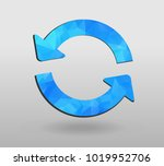 arrow refresh icon reload sign... | Shutterstock .eps vector #1019952706