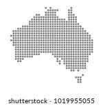 pixel map of australia. vector... | Shutterstock .eps vector #1019955055