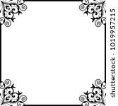 vector vintage border frame... | Shutterstock .eps vector #1019957215