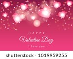 pink bokeh vector background... | Shutterstock .eps vector #1019959255