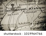mississippi on the map of... | Shutterstock . vector #1019964766
