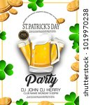 st. patrick's day. beer party... | Shutterstock .eps vector #1019970238