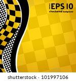 vector checkered racing... | Shutterstock .eps vector #101997106