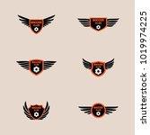 soccer logo design illustration. | Shutterstock .eps vector #1019974225