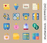 icons banking with filter ... | Shutterstock .eps vector #1019992162