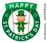 happy saint patrick's day.... | Shutterstock .eps vector #1019998126