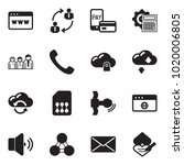 solid black vector icon set  ... | Shutterstock .eps vector #1020006805