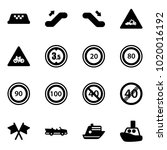 solid vector icon set   taxi...   Shutterstock .eps vector #1020016192