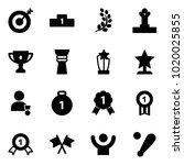 solid vector icon set   target... | Shutterstock .eps vector #1020025855