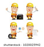 cute people. professional.... | Shutterstock .eps vector #1020025942