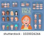 girl's character constructor.... | Shutterstock .eps vector #1020026266