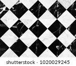 black and white marble bricks... | Shutterstock . vector #1020029245