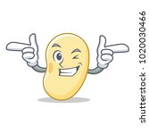 wink soy bean character cartoon | Shutterstock .eps vector #1020030466
