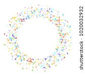 question marks scattered on... | Shutterstock .eps vector #1020032932