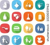 flat vector icon set   cleanser ... | Shutterstock .eps vector #1020035962