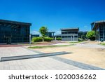 modern office building with...   Shutterstock . vector #1020036262