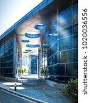 exterior of a modern small... | Shutterstock . vector #1020036556