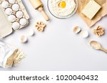 baking ingredients for pastry... | Shutterstock . vector #1020040432