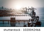 large tankers unloading crude