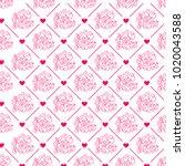 valentines day. romantic...   Shutterstock .eps vector #1020043588