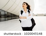 attractive beautiful woman in a ... | Shutterstock . vector #1020045148