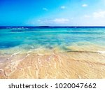 blue crystal water and white... | Shutterstock . vector #1020047662