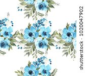 a beautiful carpet with blue... | Shutterstock . vector #1020047902
