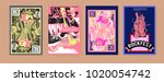 vector set of music event... | Shutterstock .eps vector #1020054742