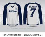 white and bule layout football... | Shutterstock .eps vector #1020060952