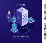 big data center  professional... | Shutterstock .eps vector #1020063022