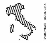 italy map outline graphic... | Shutterstock .eps vector #1020072316