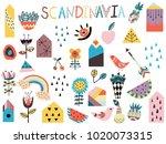 set of cute scandinavian style...   Shutterstock .eps vector #1020073315
