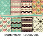 vector set of scrapbook paper