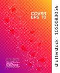 cover layout design. global... | Shutterstock .eps vector #1020083056