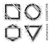 set of cut geometric shapes.... | Shutterstock .eps vector #1020087298