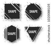set of cut geometric shapes.... | Shutterstock .eps vector #1020088105