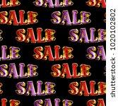 seamless sale pattern. ideal...   Shutterstock . vector #1020102802