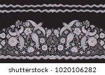 vector seamless border in... | Shutterstock .eps vector #1020106282
