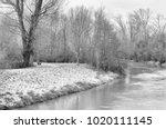 monochrome nature landscape... | Shutterstock . vector #1020111145