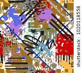 abstract art seamless pattern....   Shutterstock . vector #1020118558