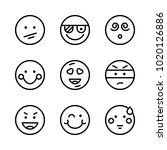 icons emoticons. vector pirate  ... | Shutterstock .eps vector #1020126886