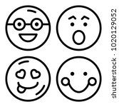 icons emoticons. vector... | Shutterstock .eps vector #1020129052