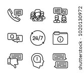 icons customer service. vector... | Shutterstock .eps vector #1020130972