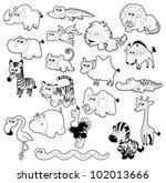 Savannah Animal Family. Vector...