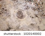 Small photo of Fragment of ceiling painting inside rock house at Little Petra in the ancient Arab Nabataean Kingdom city of Petra. Jordan