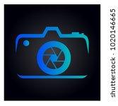 photography icon vector logo... | Shutterstock .eps vector #1020146665